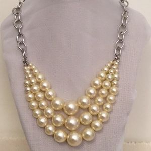 Vintage Celluloid Pearl Necklace